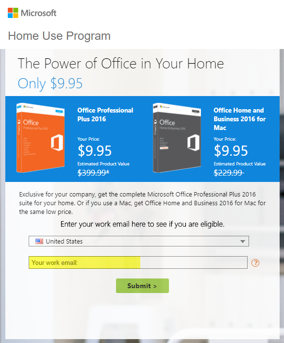ms office home use program