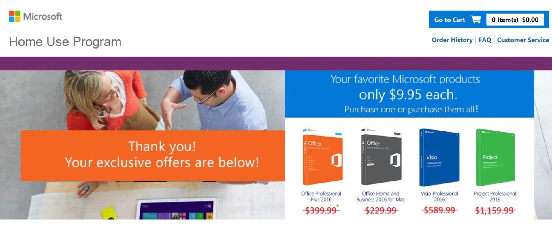 Microsoft Home Use Program – Washington State DES